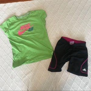 NIKE, ADIDAS | Girls athletic lot. Sz L and XL